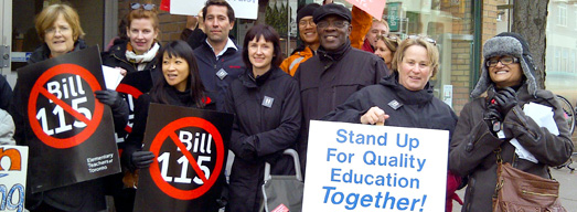 Photos from Friday Rallies at Liberal MPP Constituency Offices – November 2, 2012
