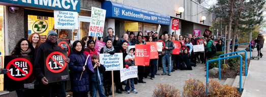 Photos and Video from Friday Rallies at Liberal MPP Constituency Offices – November 9, 2012