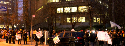 Photos and Videos from Protest at TDSB Office – December 3, 2012