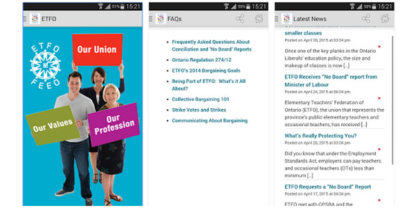 Download the ETFO Collective Bargaining App