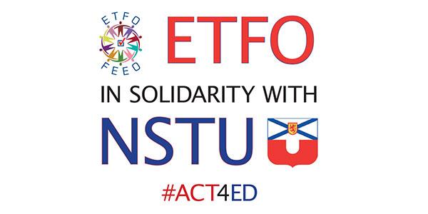 ETFO Supports Nova Scotia Teachers