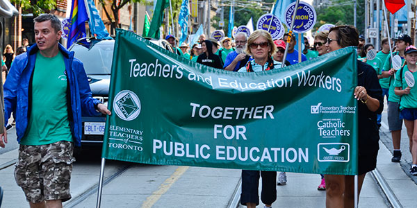 ETT Takes Action at the Toronto Labour Day Parade 2017