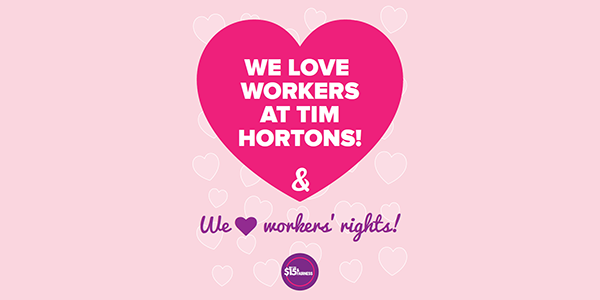 Show Tim Hortons Workers Valentine's Love on February 13, 2018