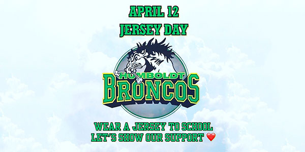 Wear a Hockey Jersey on April 12 in Remembrance of the Humboldt Bus Crash Victims