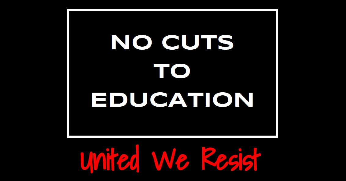 Black Monday: No Cuts To Education #CutsHurtKids