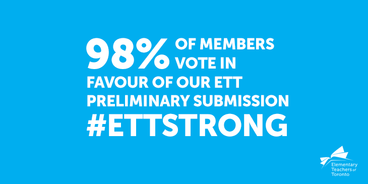 ETT Preliminary Submission Vote Result Demonstrates Our Solidarity