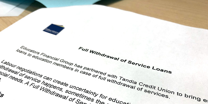 Full Withdrawal of Service Loans: Educators Financial Group