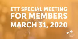 ETT Special Meeting For Members