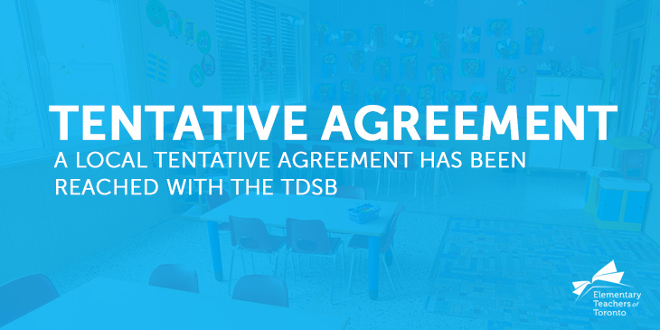 ETT Reaches Local Tentative Agreement With the TDSB
