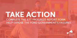 ETT COVID-19 Progress Report - Help Expose the Ford Government