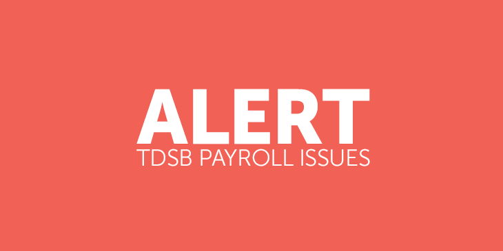 TDSB Payroll Issues