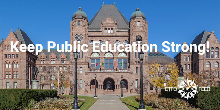 ETFO Media Release: Ontario Budget Provides no New Funding to Keep Students and Educators Safe