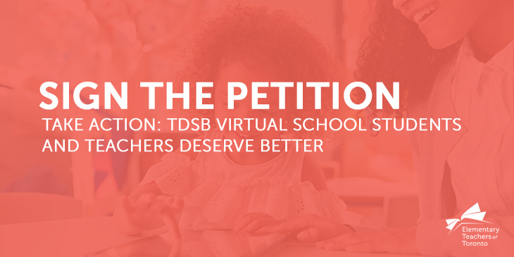 Petition: TDSB Virtual School Students and Teachers Deserve Better